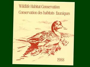 1988-6-50-Canada-Wildlife-Habitat-Stamp-in-Folding-Card-95mm-X-100mm