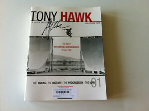 """TONY HAWK """"A LIFE IN SKATEBOARDING"""" TRANSWORLD COLLECTOR'S MAG ANDY MAC SIGNED"""