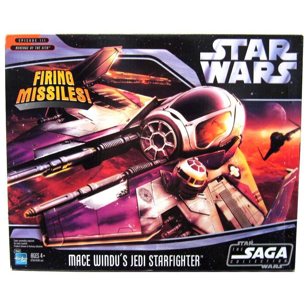 Hasbro saga di  Guerre Stellari COLLEZIONE Mace Windu's Jedi estrellacombatiente Veicolo  design semplice e generoso