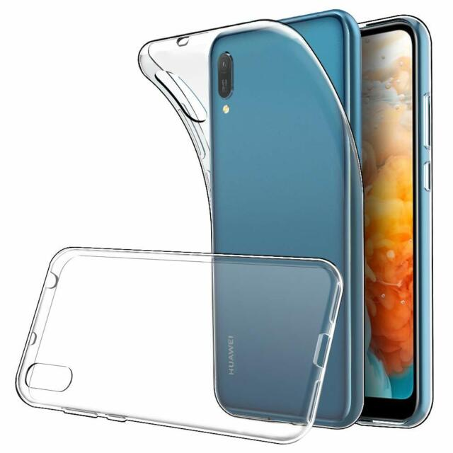 for Huawei Y6 Pro 2019 Case Clear Slim GEL Cover Transparent Soft Silicone