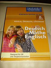 SCHÜLERHILFE 8 KLASSE DEUTSCH MATHE ENGLISCH REGELN ÜBUNGEN LÖSUNGEN BUCH