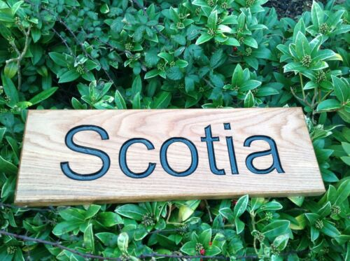 Engraved Oak House or Business Sign Made to Order