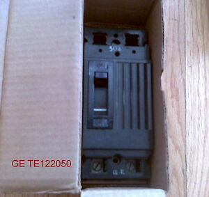 GENERAL ELECTRIC TE122050 2 POLE 240 VAC 50 AMP (NIB) TE-122050