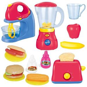 Details about Kids Assorted Kitchen Set Children Role Play Toaster Food  Blender Toy Gifts New