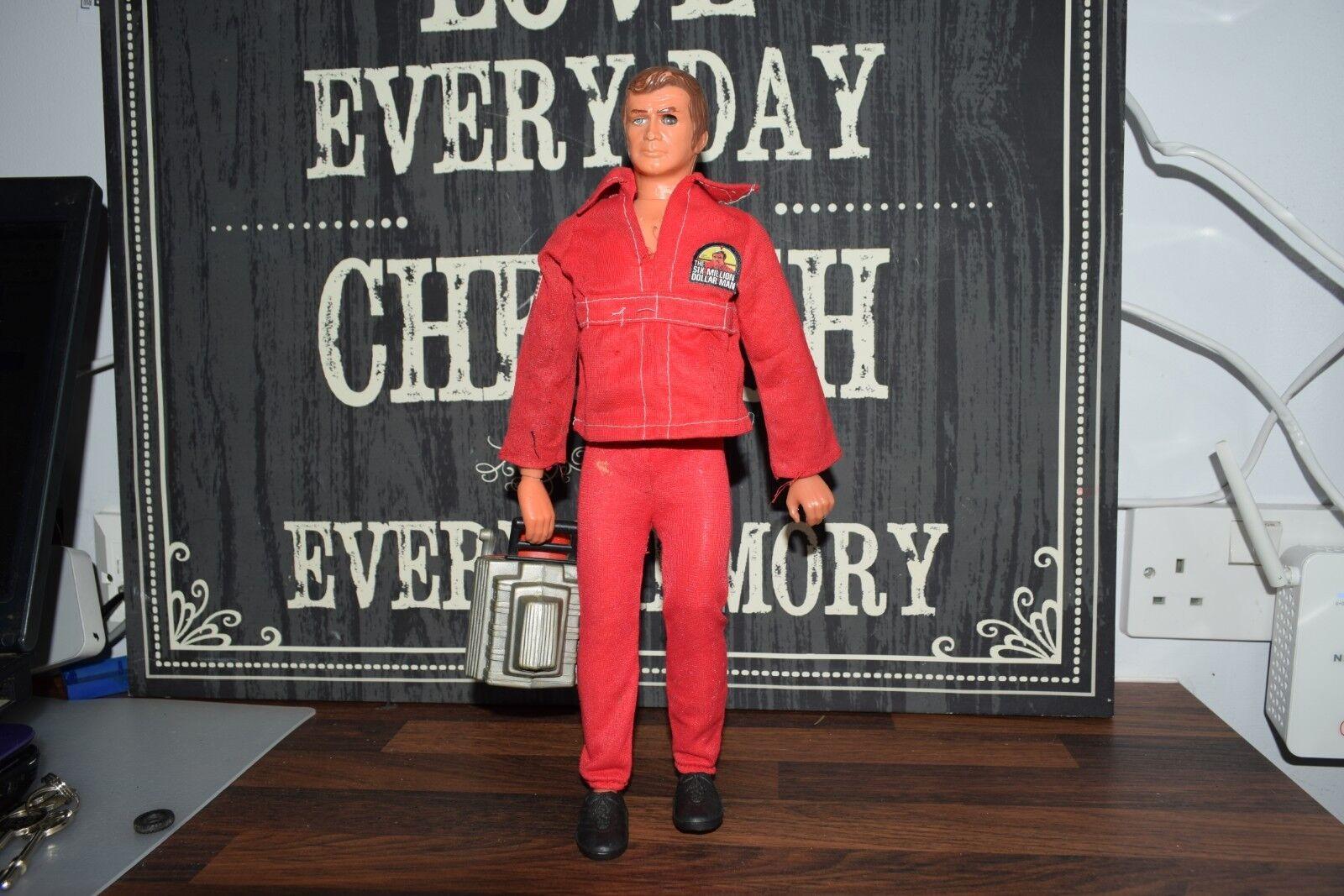 KENNER sei milioni di bambolaari uomo azione cifra LEE MAJORS Bionic Uomo MOTORE 1975
