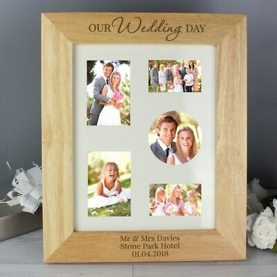 Personalised Photo Frame 10 X 8 Photo//Picture Frame Gift Home Our Wedding Day