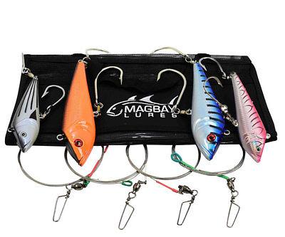 "8/"" Lightning Wahoo Lure Pink Rattler Tuna Dorado Marauder by MagBay Lures"