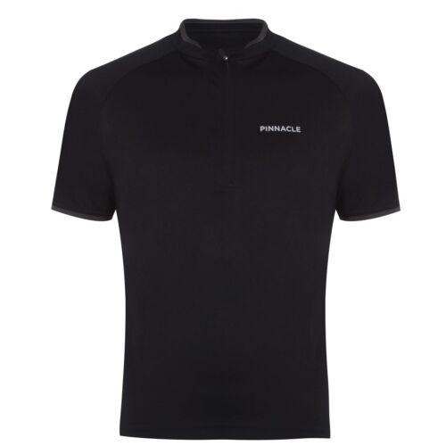 Pinnacle Short Sleeve Cycling Jersey Mens Gents Performance Shirt Zip