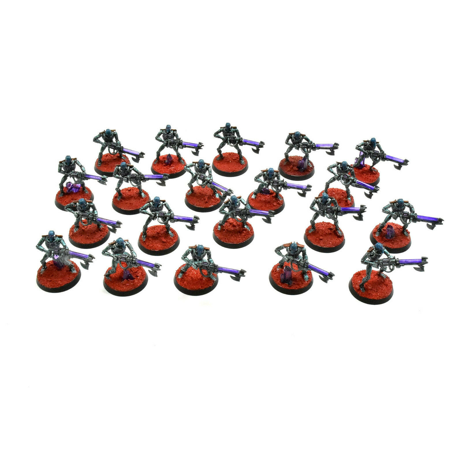 NECRONS 20 necron warriors Painted Warhammer 40K necron purple