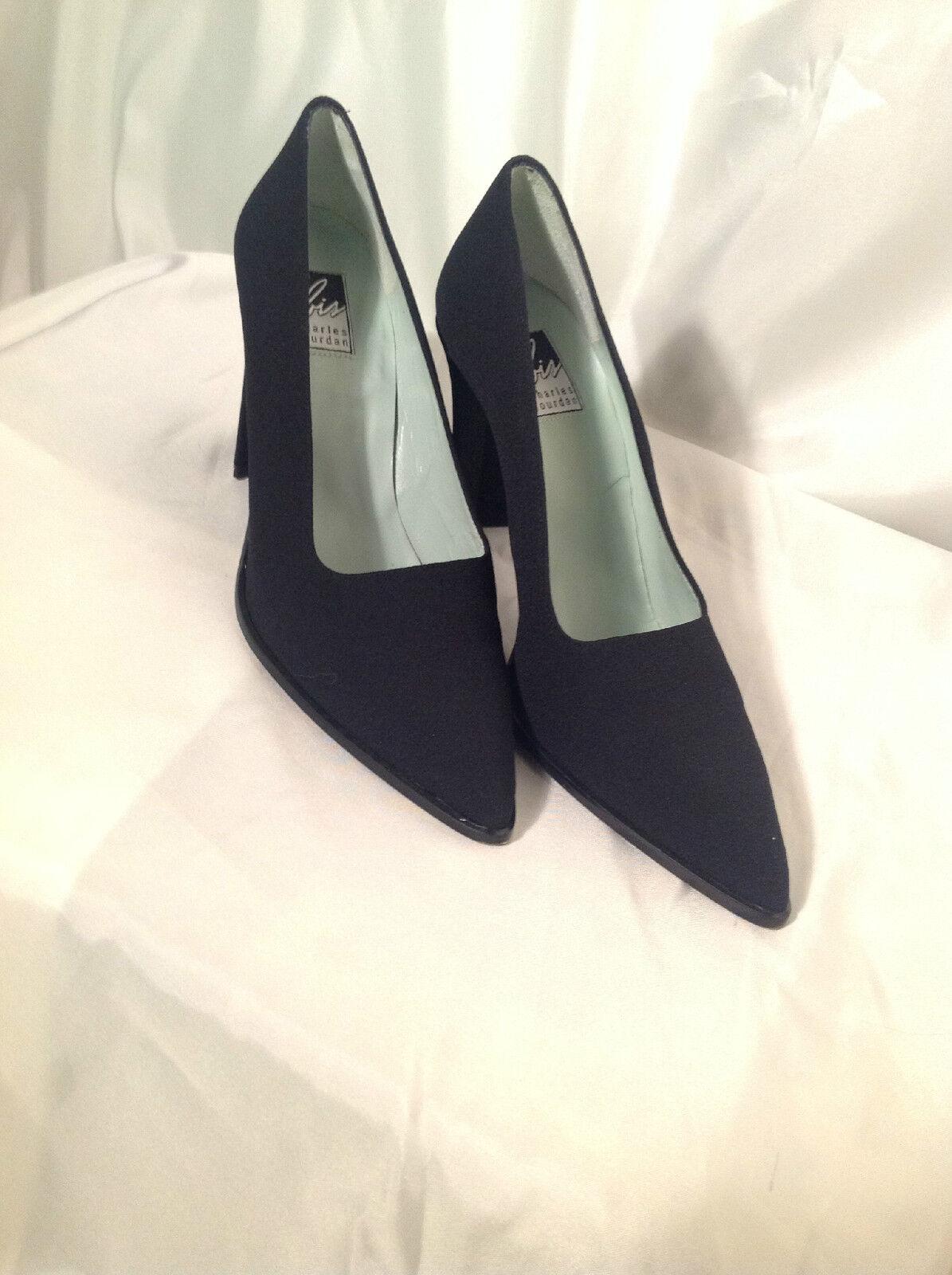Beautiful Black Classic Charles Jourdan Classic Heels, PUMPS SIZE 8.5 New