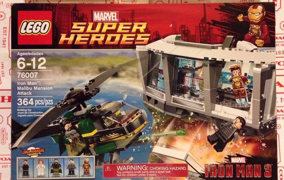 Lego 76007 Super Heroes Iron Man 3 Marvel Ataque Mansión Malibu Nuevo en Caja un