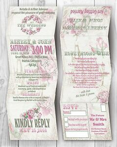 Personalised-HANDMADE-Rose-Wedding-Day-Invites-Evening-Invitation-Envelope