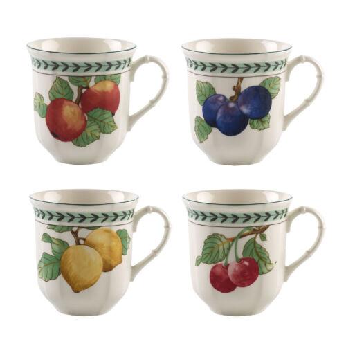 VILLEROY /& BOCH FRENCH GARDEN Modern fruits Jumbo-Gobelet Set 4 pièces