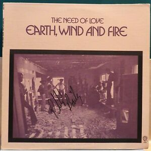 Earth Wind And Fire: The Need Of Love (WS 1958 Repress). Soul / Funk LP. Signed