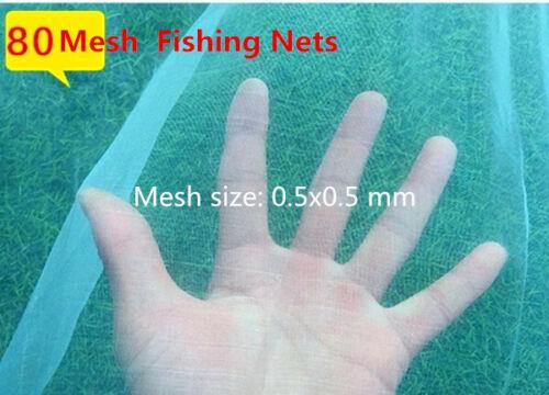 1M Mesh 3//1//0.5//0.2mm Fishing Net Cloth Pond Fish Shrimp Isolation Breeding Nets