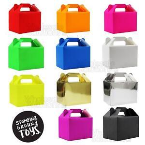 Plain-Colour-Party-Food-Boxes-Children-039-s-Party-Kids-Bags-Celebration-Cake-Box