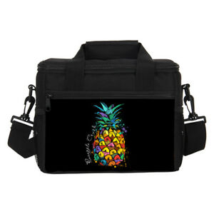 d70dca49f30a Details about Pineapple Fruit Print Cooler Lunch Boxes Camping Picnic Bag  9L Insulated Carrier