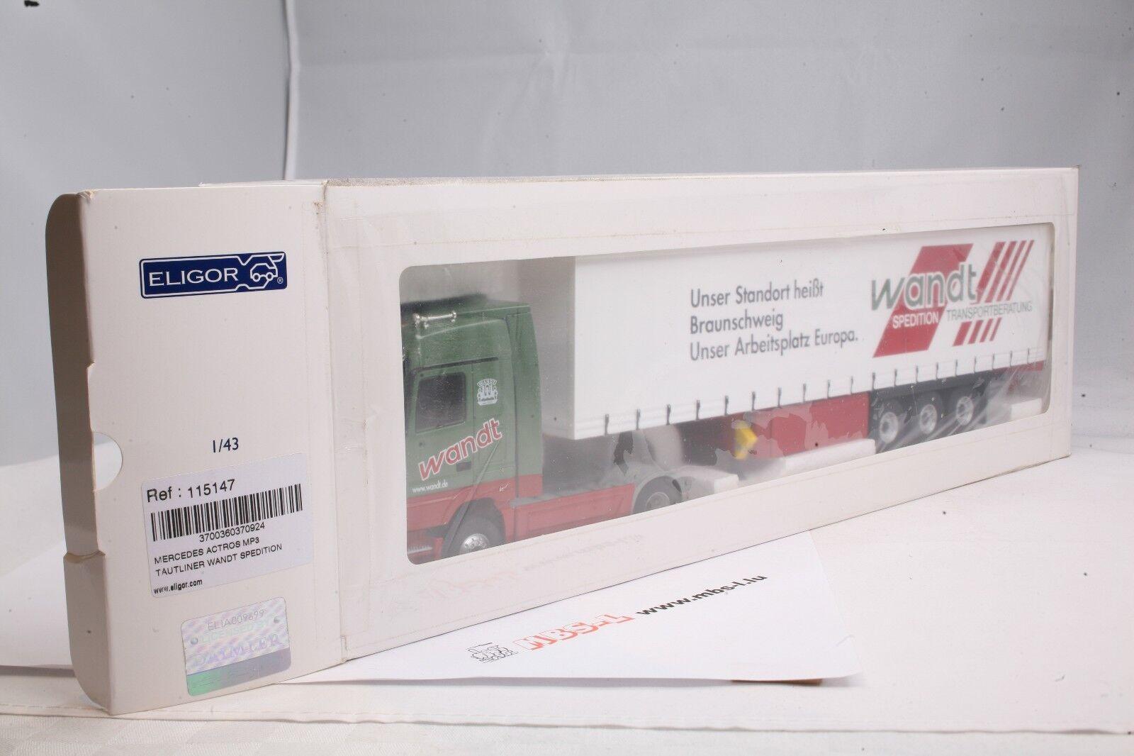 LKW Eligor 115147 Mercedes Actros MP3 MP3 MP3 Tautliner  Wandt Spedition  1 43  | Düsseldorf Online Shop  9b8bf0
