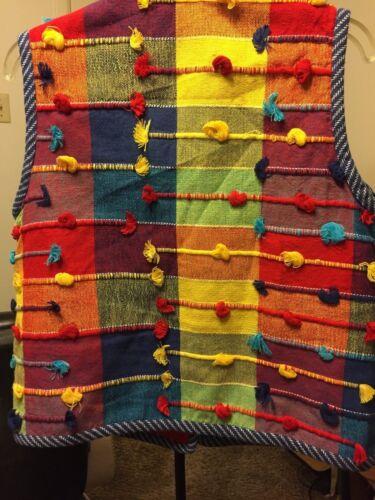 Denim Medium Crystal Vest Style Handwoven Multi Women's farve Størrelse Pgq1Ewpxq