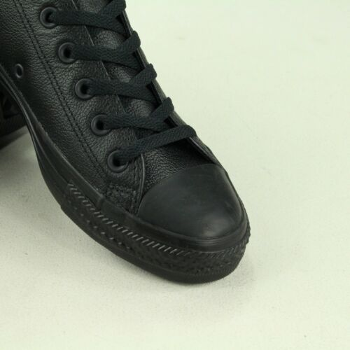 11 Monochrome 9 3 Converse Cuir Taille 7 6 5 Uk Etoile Noir 10 8 4 Baskets En 1Oqn10aZ
