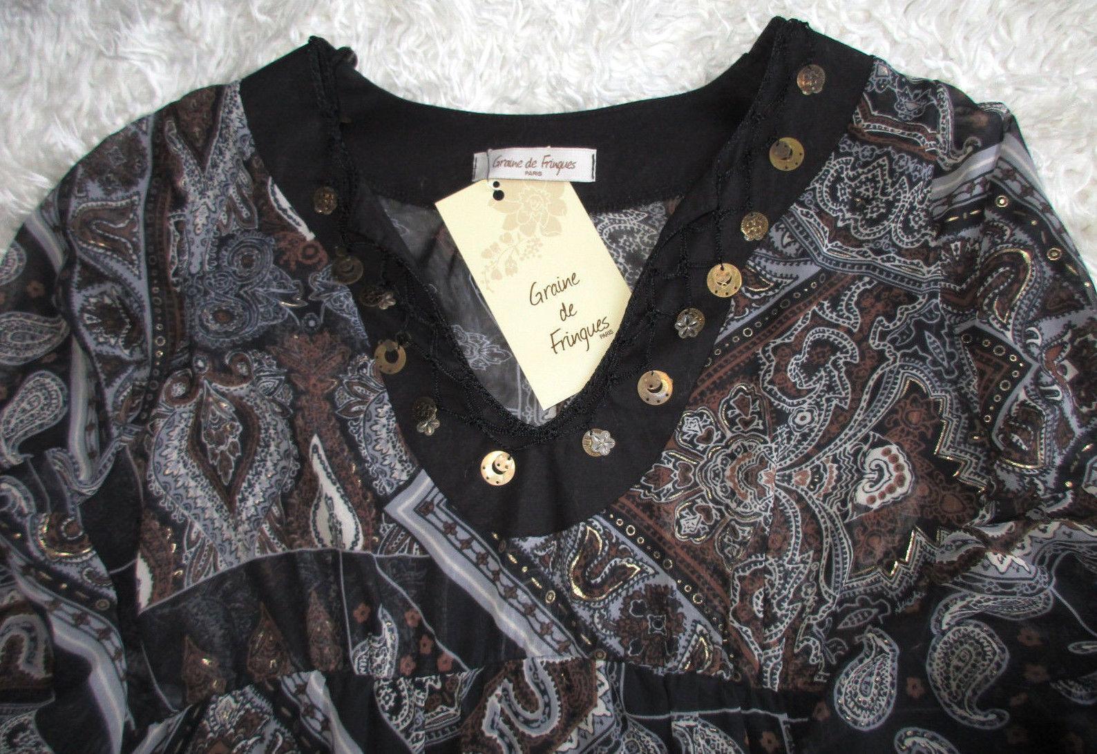 Kleid Designerkleid Gr. 2 - ca. 38- 40 Graine de Fringues Neupreis