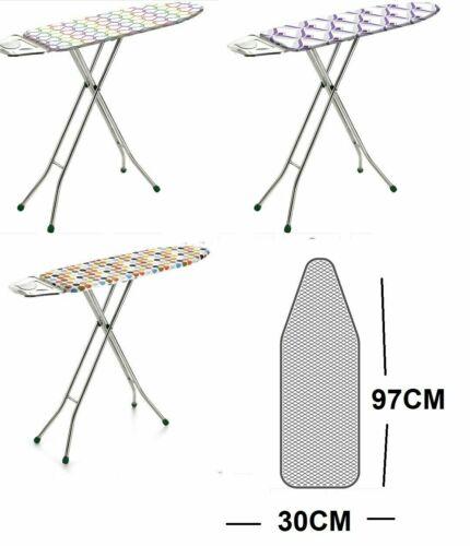 Pliant Large Solide Fer Planche Repassage Réglable en Hauteur Poids Léger antidérapantes