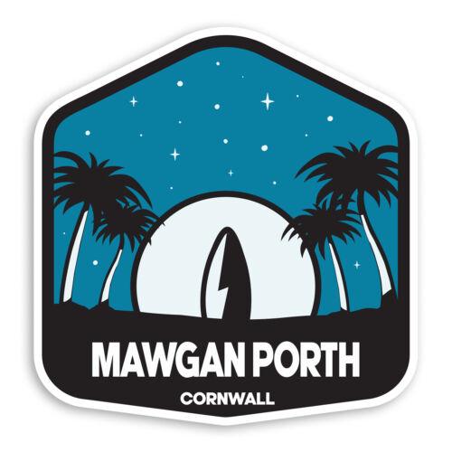 2 x 10cm Mawgan Porth Cornwall Vinyl Stickers UK Surf Luggage Sticker #30409