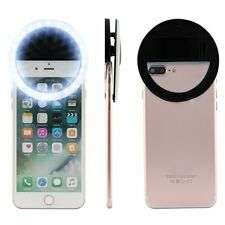 Selfie Portable LED Ring Fill Light Camera Photography For IPhone Android CA