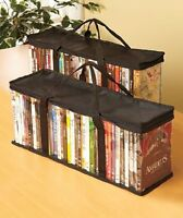 Set Of 2 Dvd Storage Bags (holds 40 Dvd's Each - 80 Total), New, Free Shipping on sale