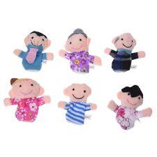 6 piezas Familia marioneta del dedo del bebe del pano de ninos para Jugar y Apre