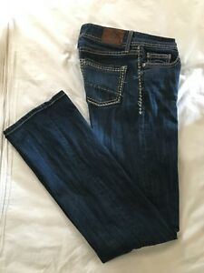 BKE-DENIM-BUCKLE-Womens-SABRINA-SLIM-BOOT-Blue-Jeans-Size-27-Long