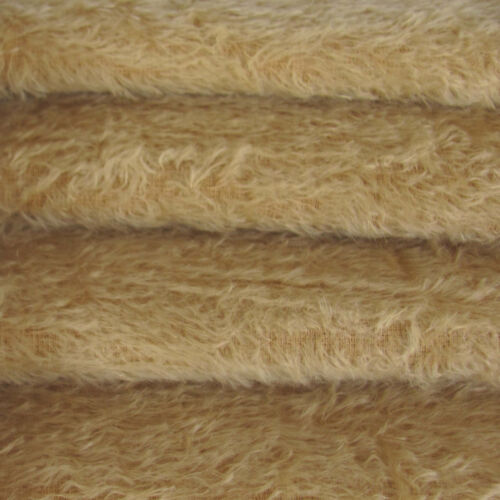 1/6 yd 300S/C Tan INTERCAL 1/2 Ultra-Sparse Curly S-Finish Mohair Fur Fabric