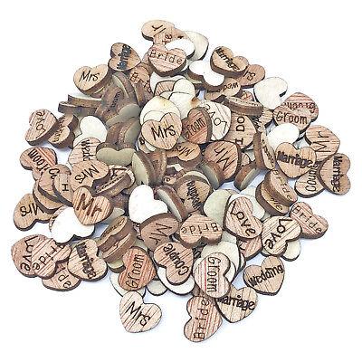 Gemotiveerd Wedding Mix Wood Hearts Shabby Chic Craft Scrapbook Vintage Confetti Heart 10mm Aantrekkelijk Uiterlijk