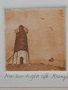 """""""HARBOR LIGHT"""" ETCHING by FLO KEMP of Setauket, NY Signed, Limited edition 4/150"""