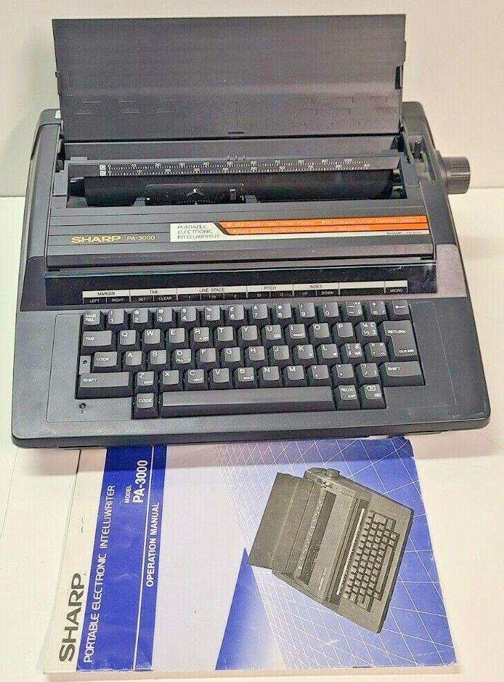 SHARP PA-3000 Vintage ELECTRIC Typewriter