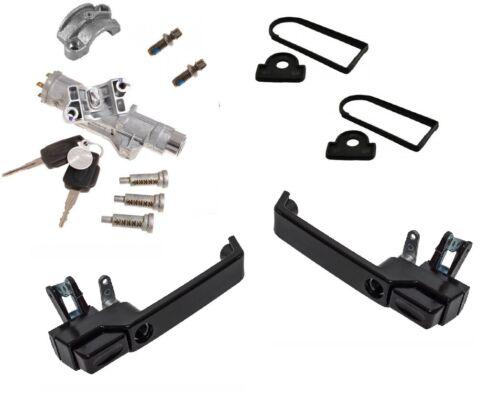 Genuine Land Rover Lockset LRC1352 Defender Front Door Gloss Black Handle Kit