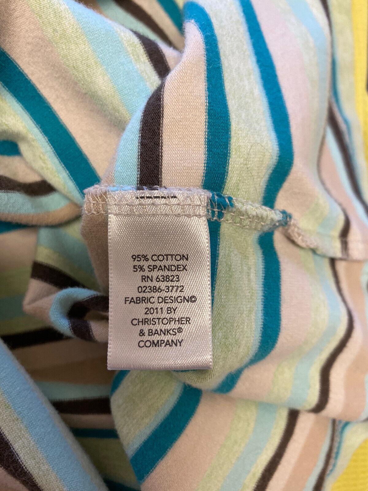 Christopher & Banks Women's Large Striped Short S… - image 7