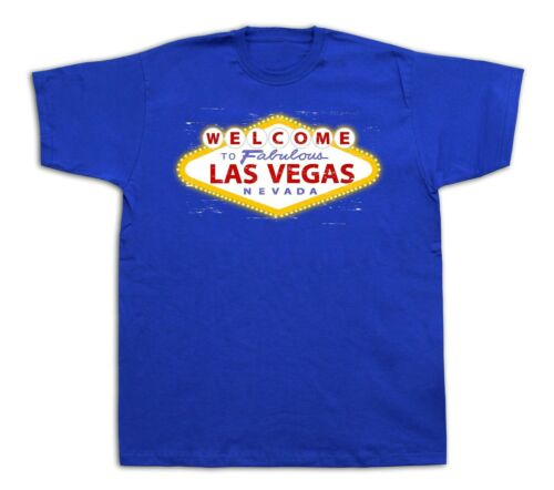 Welcome to Las Vegas nevada sign lights city t-shirt funny apparel casual tee