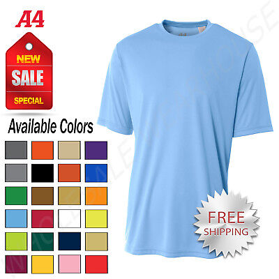 A4 Men/'s Cooling Performance T-Shirt Workout Running Dri-Fit Athletic Tee Shirt