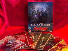 Avengers (2D/3D) Blu-ray Exclusive Lenticular Steelbook New + Bonus Art Cards