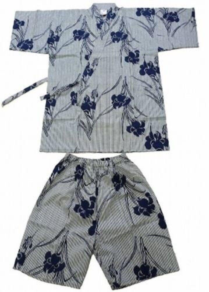 Ladies JINBEI(Iris & stripe)SAMUE with Shorts Authentic JAPAN SJ574