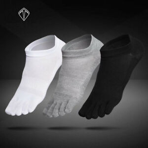 6-Pairs-Mens-Cotton-Toe-Socks-Five-Finger-Solid-Ankle-Breathable-Low-Cut-Sports