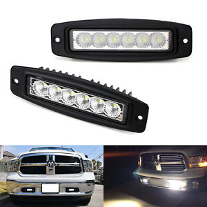 Details About 6 18w Flush Mount Led Light Bars For Truck Suv Jeep Atv Driving Backup Lights