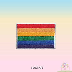 LGBT-Gay-Pride-Flag-Embroidered-Iron-On-Flag-Patch-Sew-On-Badge-Applique