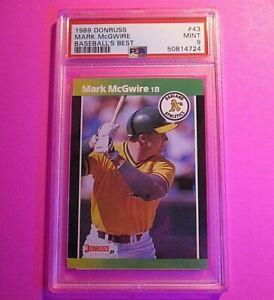1989 Donruss Best Mark McGwire  card #43 PSA 9 MINT Low POP