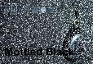blk Noir tête plombée//plomb plastique revêtement poudre hls pêche à la carpe tackle