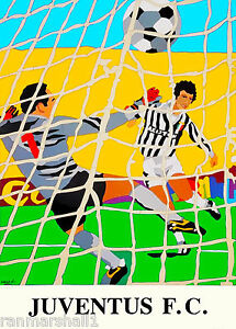 Italy Italian Soccer Football Sports Vintage Travel Advertisement Poster
