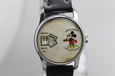 Vintage Bradley Digital Mickey Mouse Disney Hand Wind Wristwatch Watch Running