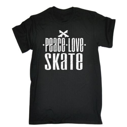 Peace Love Skate T-SHIRT Skateboard Board Accessory Boarder Deck birthday funny