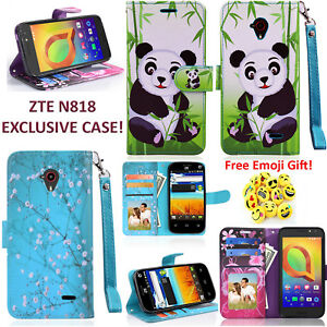 Details about For ZTE N818S QLink Sapphire 4G Case w/ Card Slot Folio  Kickstand Wallet Cover